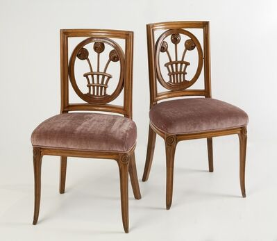 André Groult, 'Rare Pair of Side Chairs', ca. 1913