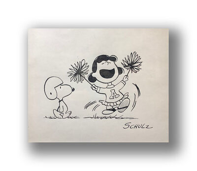 Charles M. Schulz, 'Football Cheer', ca. 1960