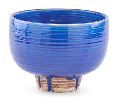 Laura Andreson, 'Footed bowl, cobalt drip glaze, Los Angeles, CA', 1944