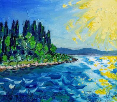 Norma de Saint Picman, 'Water  summer 2019 - plein air in situ paintings, Forma Viva, middle day sun', 2019