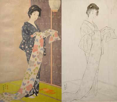 Goyo Hashiguchi, 'Woman in Summer Kimono (w/ Key Block)', 1920