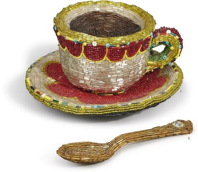Liza Lou, 'Cup and Saucer; Spoon [Two Works]'