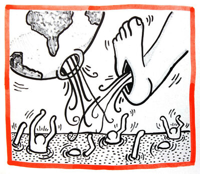Keith Haring, 'Keith Haring lithograph 1990 (Keith Haring Against All Odds)', 1990