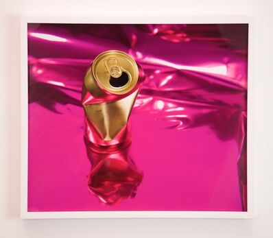 Sadie Barnette, 'Untitled (Gold Can on Pink)', 2018