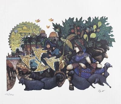 Amram Ebgi, 'DAVID THE SHEPARD (JUDAICA ART)', ca. 1990