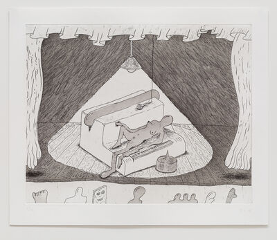 Zachary Leener, 'Five Etchings (Cabaret)', 2015