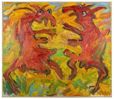 Otto Muehl, 'zwei Ziegen', 1984