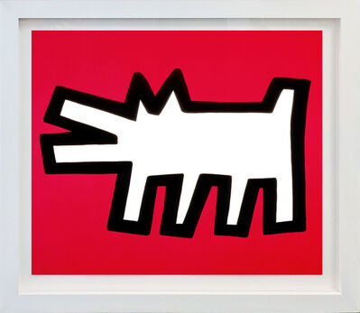 Keith Haring, 'BARKING DOG (FROM ICON SERIES)', 1990