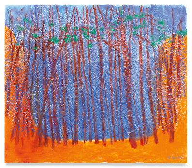 Wolf Kahn, 'Blue Stage, Orange Wings', 2019