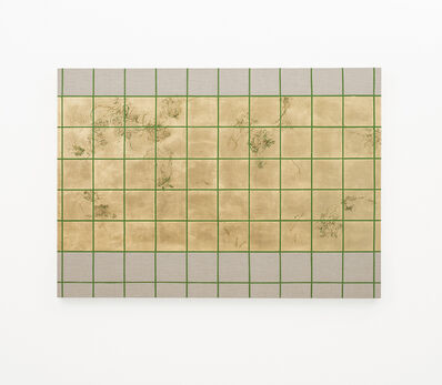 Pierre Vermeulen, 'Hair orchid sweat print, green grid II', 2018