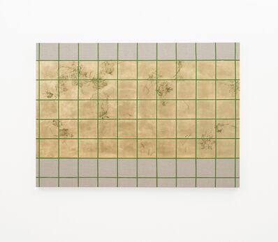 Pierre Vermeulen, 'Hair orchid sweat print, green grid II', 2018