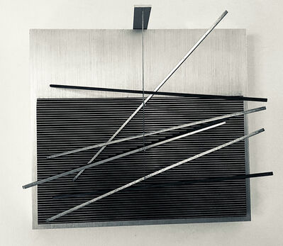 """Jesús Rafael Soto, '""""vibrations Metalliques""""', 1969"""