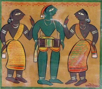 Jamini Roy, 'Untitled (Drummer with Santhals)', n/a