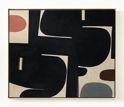 Liza Giles, 'BLACK WITH CORAL & COCO FLASH (COMPOSITION I)', 2020