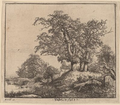 Jacob van Ruisdael, 'The Three Oaks'