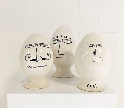 La Gardo Tackett, 'Eggheads, set of 3', 1958