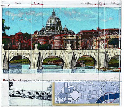 Christo and Jeanne-Claude, 'Ponte S. Angelo, Wrapped, Project for Rome', 2011
