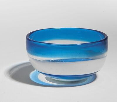 Fulvio Bianconi, 'A blown glass bowl with color bands', 1960s