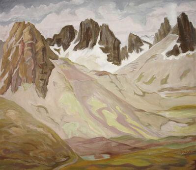 Erich Heckel, 'Berghänge (Berghänge bei Corviglia)', 1957