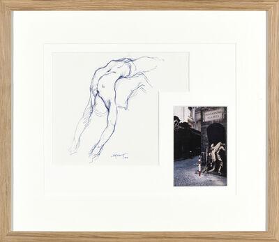 Ernest Pignon-Ernest, 'Etude pour l'homme qui porte', 1990