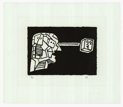 Derek Boshier, 'Man Looking at Paul Klee'