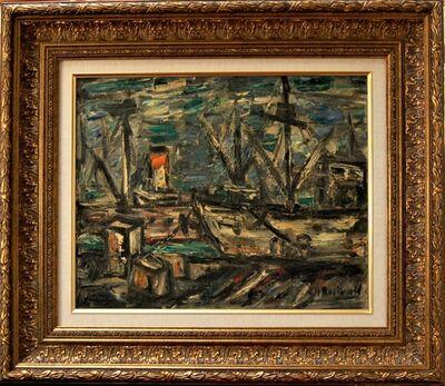"""John Rockwell, '""""Freight Dock"""" ', 1950"""