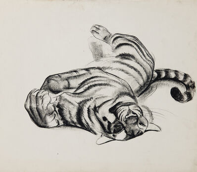 Walter Addison Estate, 'Big Cats: Tiger Sunning', 1940