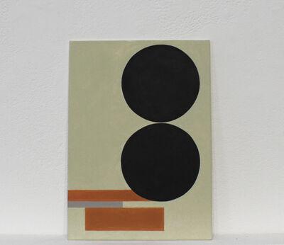 Martí Cormand, 'Postcards to AZ: mit zwei schwarzen Scheiben, 1930', 2016
