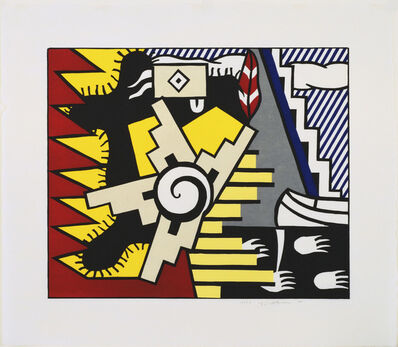 Roy Lichtenstein, 'American Indian Theme II', 1980