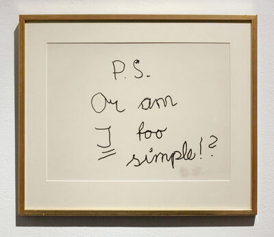 Dan Wolgers, 'Notes from a Studio (10)', 2018