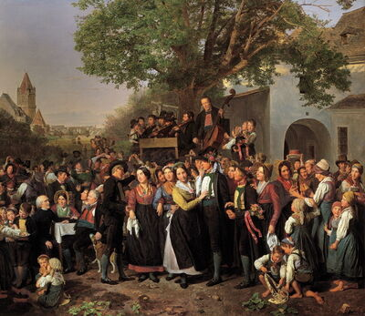 Ferdinand Georg Waldmüller, 'Lower Austrian Country Wedding', 1843