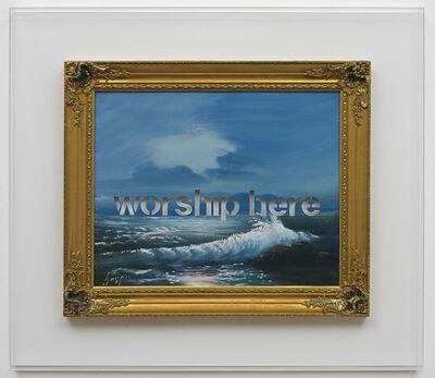 Amikam Toren, 'Armchair Painting - Untitled (worship here) ', 2007