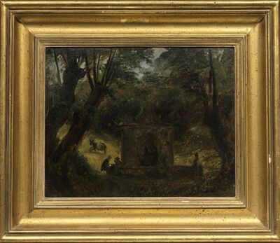 Auguste Jean-Baptiste Vinchon, 'A Fountain in a Wooded Landscape', Early 19th Century