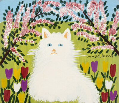 Maud Lewis, 'White Cat'