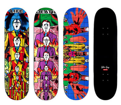 Gilbert and George, 'Supreme Gilbert & George skateboard decks: set of 3 (Gilbert & George pictures)', 2019