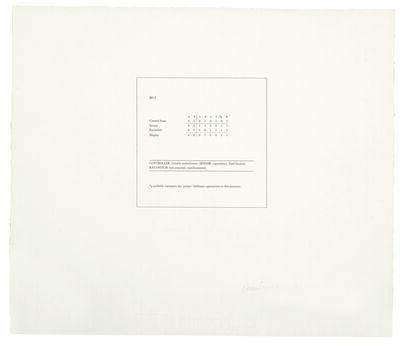 Art & Language, 'M 1:2', 1968