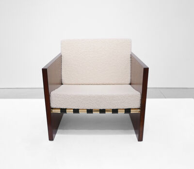 Unattributed, 'Rosewood Cube Chair', Mid-Century