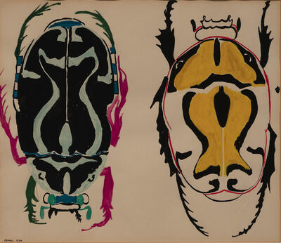 Nancy Graves, 'Untitled (Two beetles)', 1960