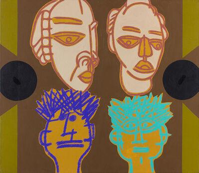 Concetto Pozzati, 'Faces', 2001