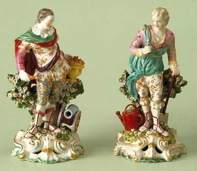 Chelsea Porcelain Factory, 'Fire and Earth (Originally Titled War and Peace)', 1765-1769