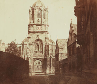 William Henry Fox Talbot, 'Gates of Christchurch, Oxford', ca. 1844