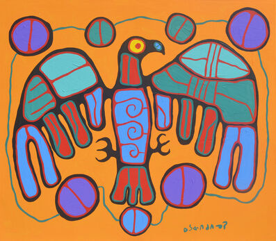 Norval Morrisseau, 'Sacred Eagle With Circles Of Life', 1990
