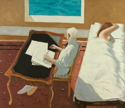 Julio Larraz, 'The Poet and his Muse', 2012