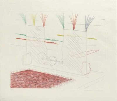 David Hockney, 'On It May Stay His Eye', 1976-1977