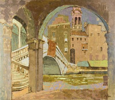 John Fox, 'Rialto Bridge, Venice', 1955