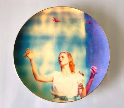 Stefanie Schneider, 'Stefanie Schneider's Coupe Plate 'Haley and the Birds'', 2021