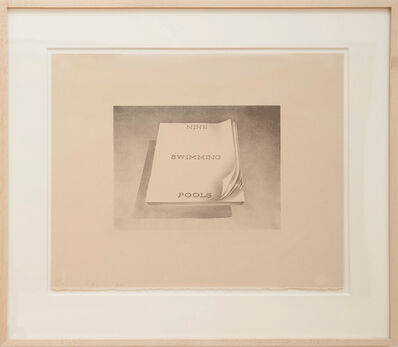 Ed Ruscha, 'Nine Swimming Pools (from Book Covers series)', 1970