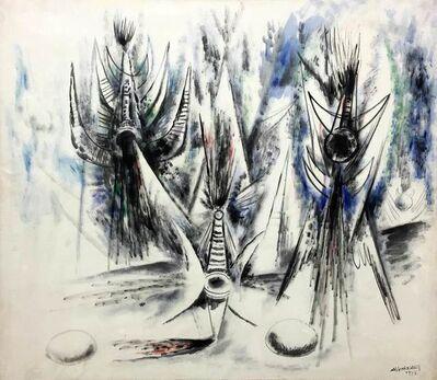 Wifredo Lam, 'Les Oiseaux Voilés', 1945