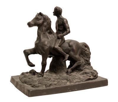 Giorgio de Chirico, 'Cavallo e cavaliere', 1987