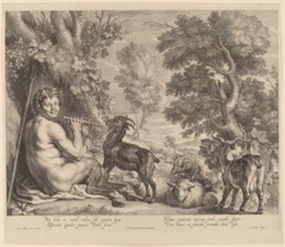 Schelte Adams Bolswert after Jacob Jordaens, 'Pan Playing the Flute'